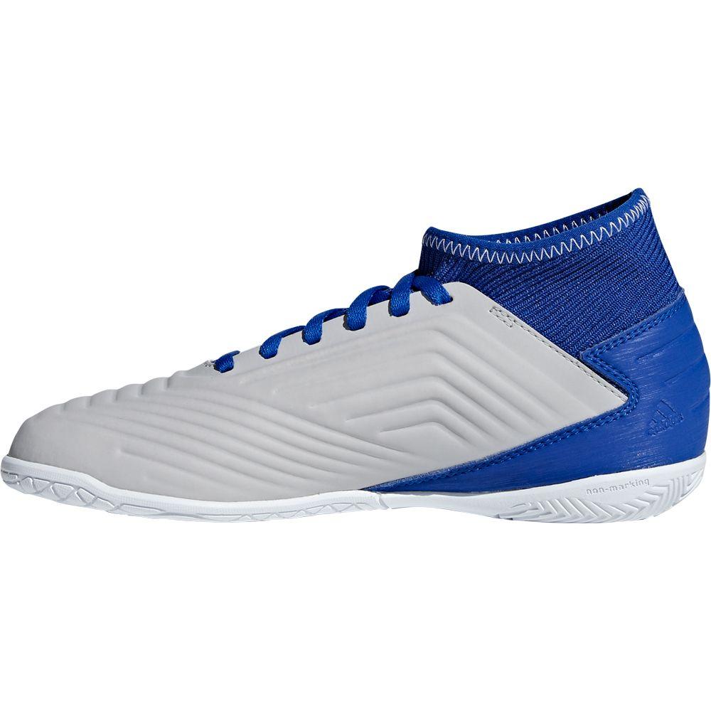 adidas Predator Tango 19.3 IN Fußballschuhe Kinder grey two footwear white bold blue