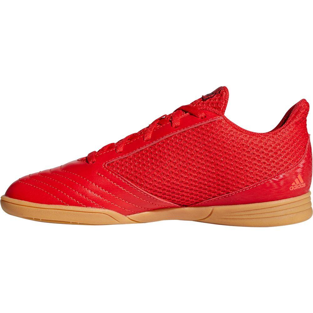 adidas Predator 19.4 IN Sala Fußballschuhe Jungen active red solar red core black