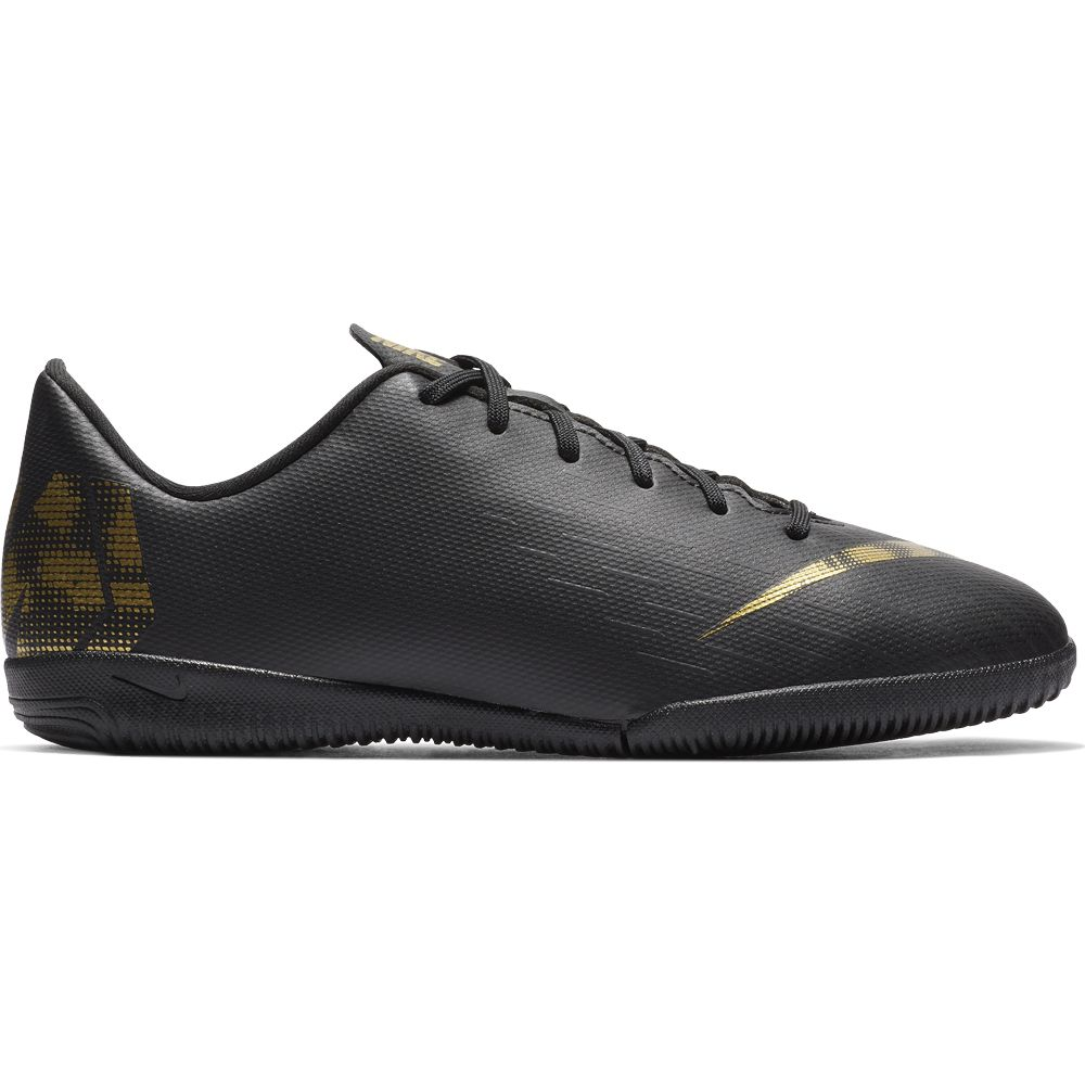 Nike - Jr. VaporX 12 Academy IC Football Shoes Kids black metallic