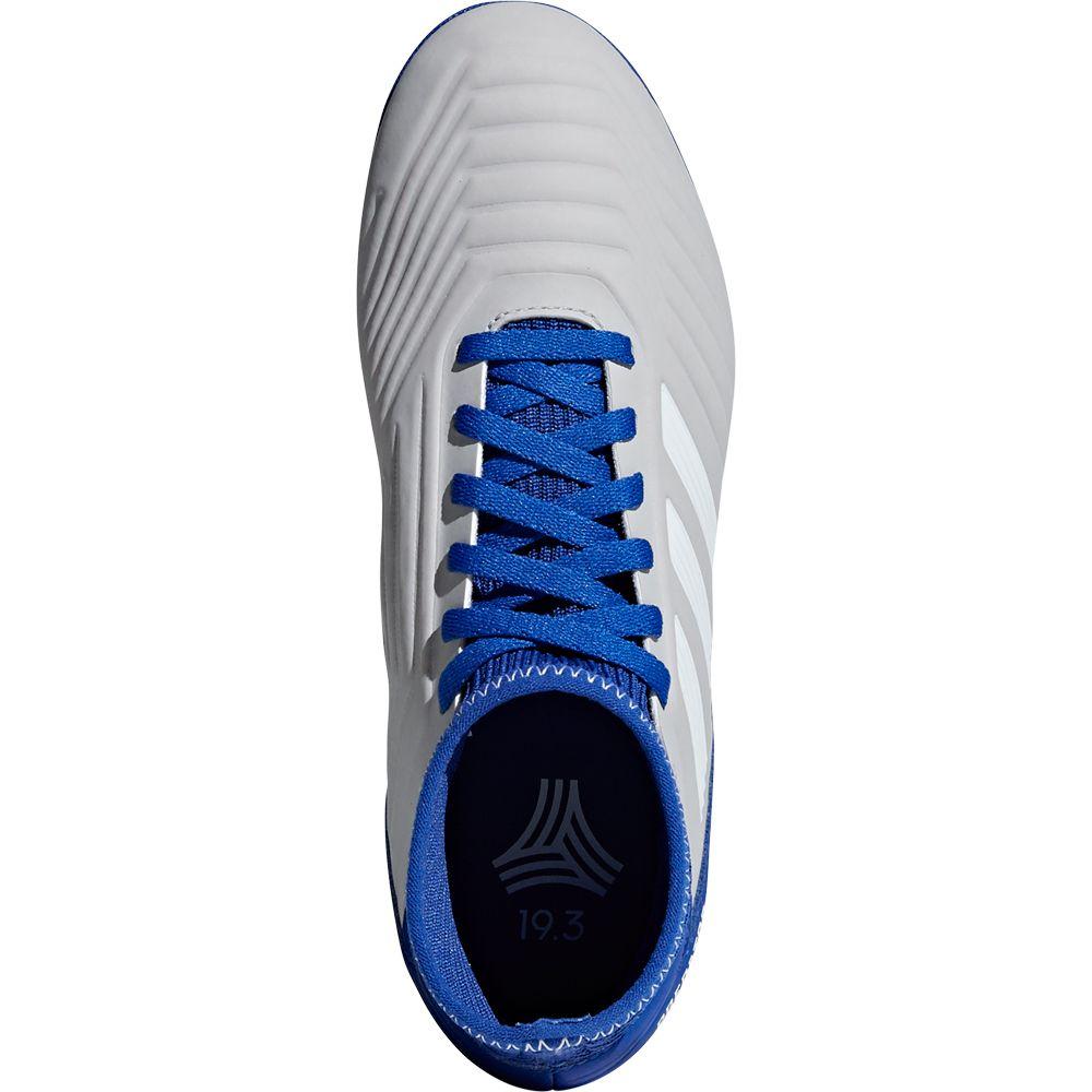242903884618 Predator Tango 19.3 TF Football Shoes Kids grey two footwear white bold blue