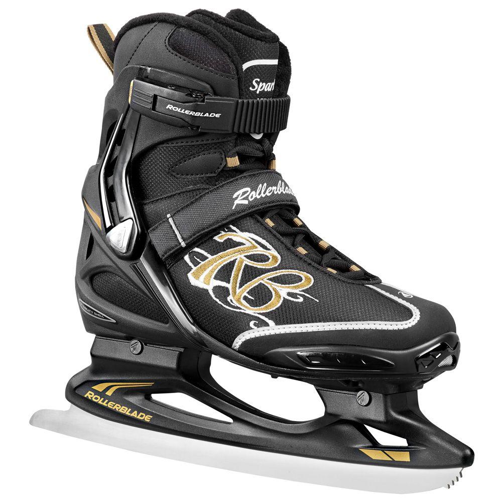 Eishockey Schlittschuh Spark Ice Damen schwarz gold