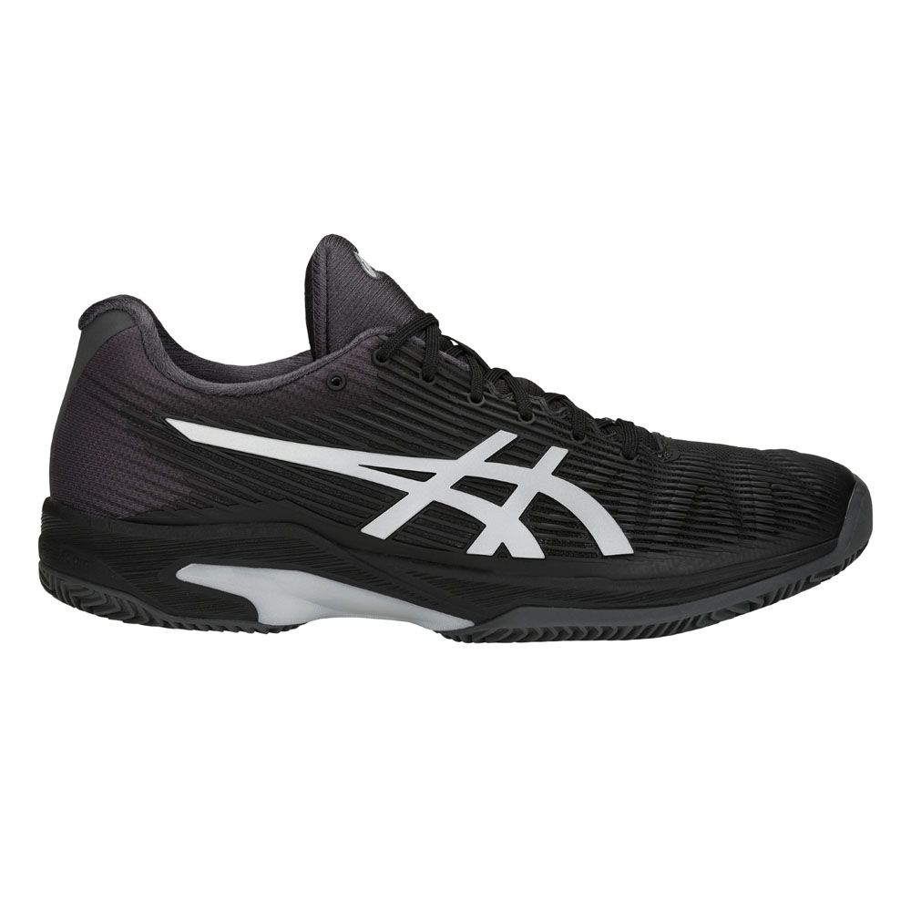 3dcd8315fb3f9 ASICS - Solution Speed FF Clay Tennis Shoes Men black silver at ...