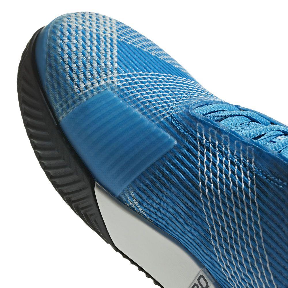 adidas Adizero Ubersonic 3.0 Clay Tennisschuhe Herren shock cyan footwear white core