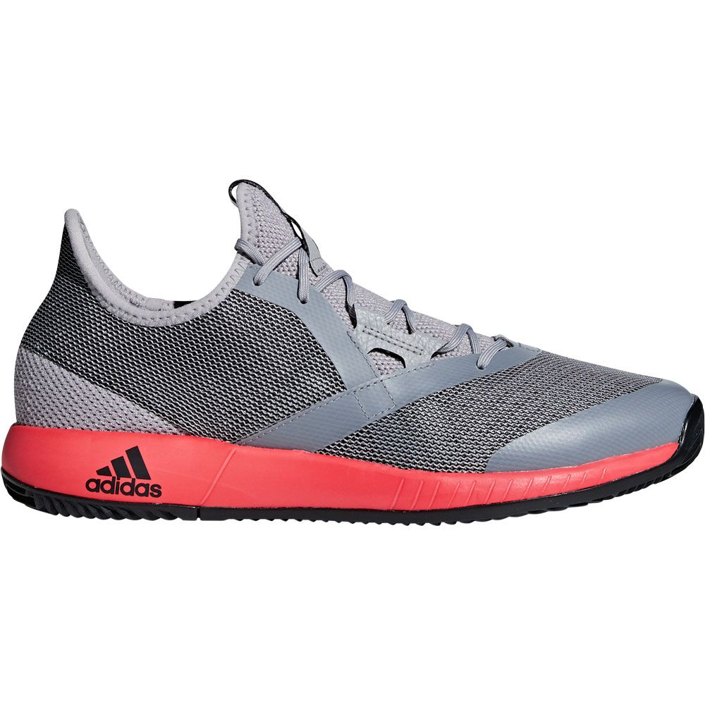 new products dc8f2 93fc9 adidas Adizero Defiant Bounce Tennis Shoes Men light granite shock red core  black