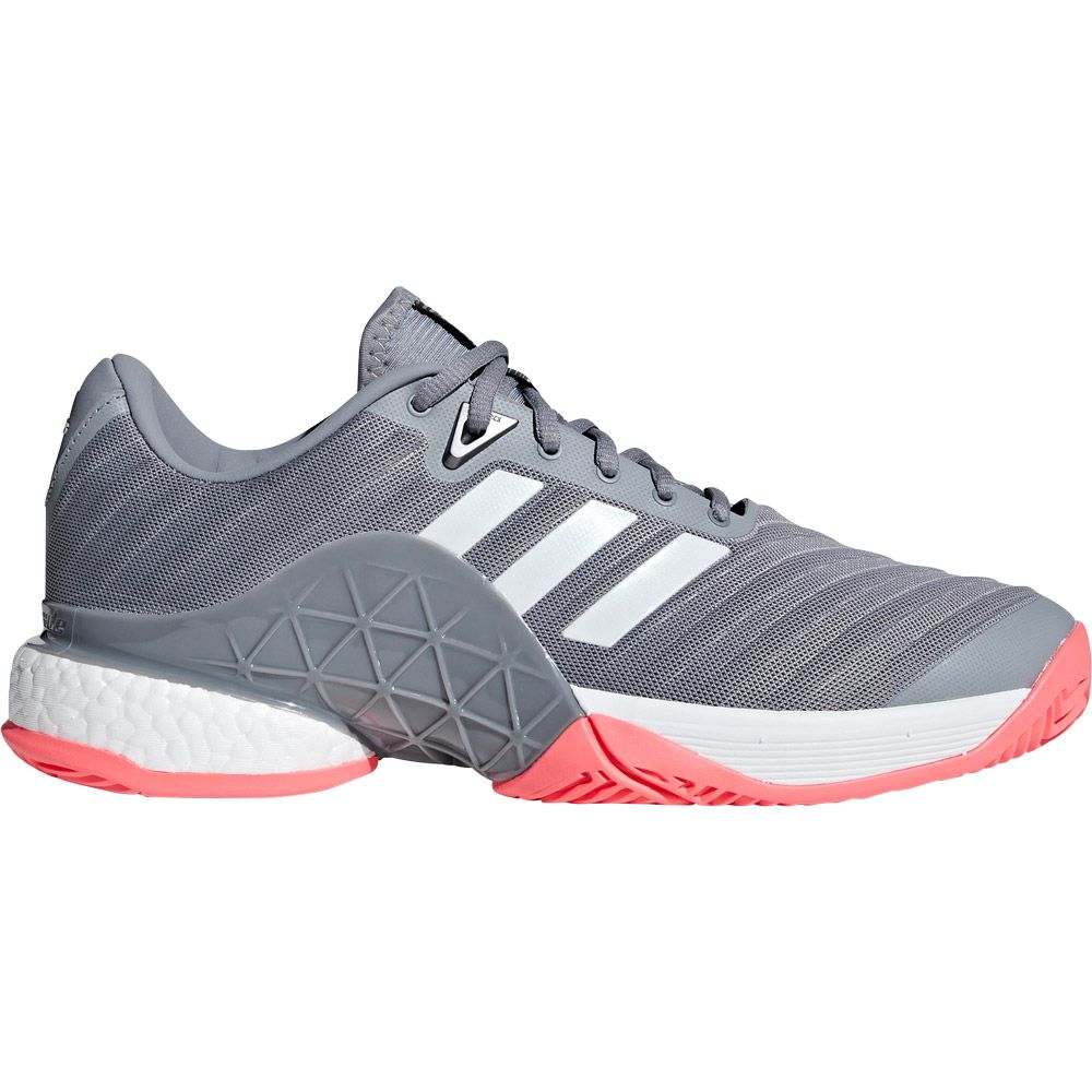 c5522c3f08aa7d adidas Barricade 2018 Boost Tennis Shoes Men footwear white matte silver  scarlet