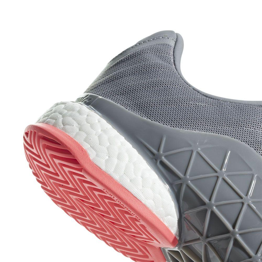 adidas Barricade 2018 Boost (WhiteMatte SilverScarlet
