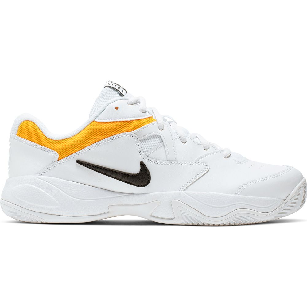 disfraz Extraordinario Color rosa  Nike - Court Lite 2 Tennis Shoes Men white black yellow at Sport Bittl Shop