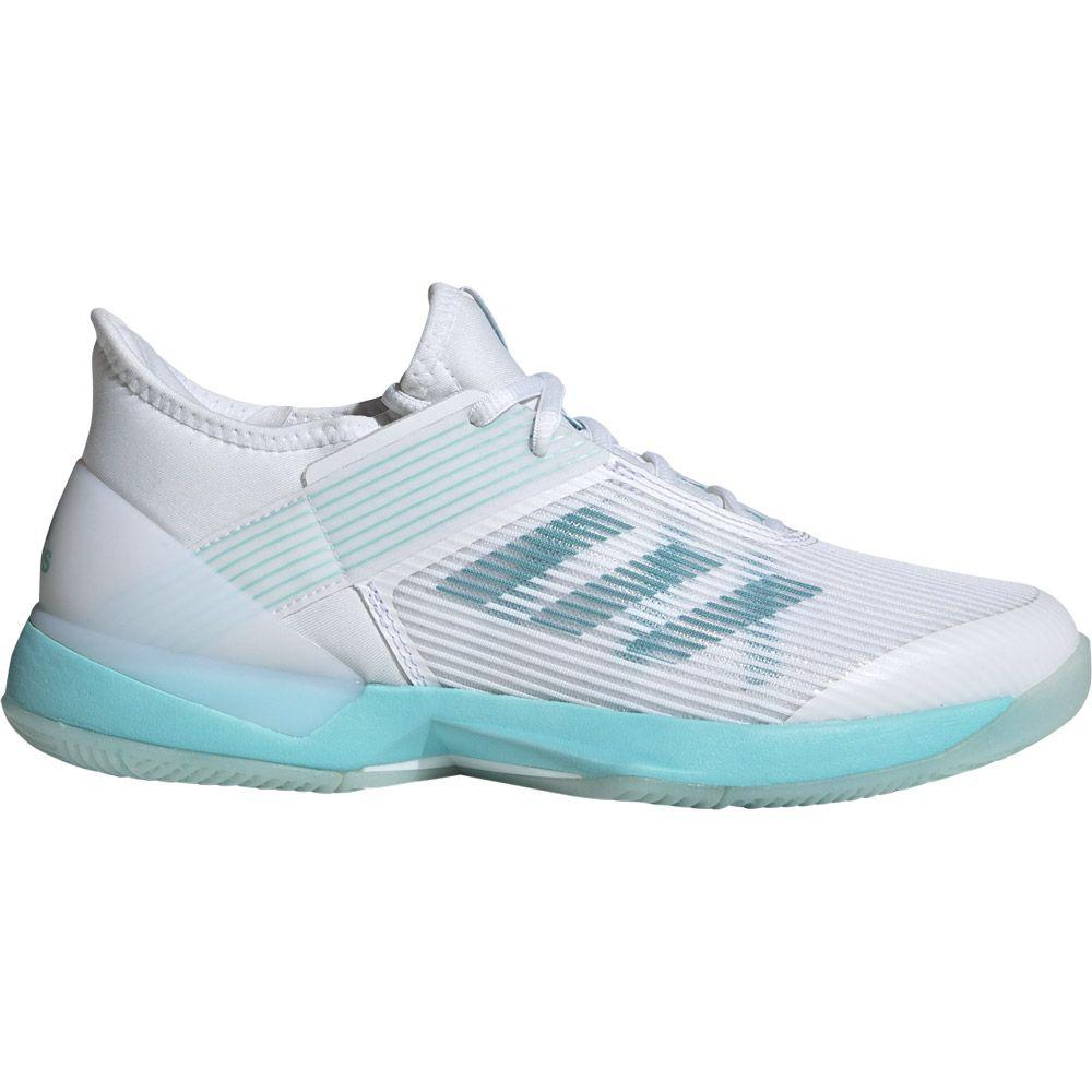 adidas Adizero Ubersonic 3 x Parley Tennis Shoes Women blue spirit footwear white