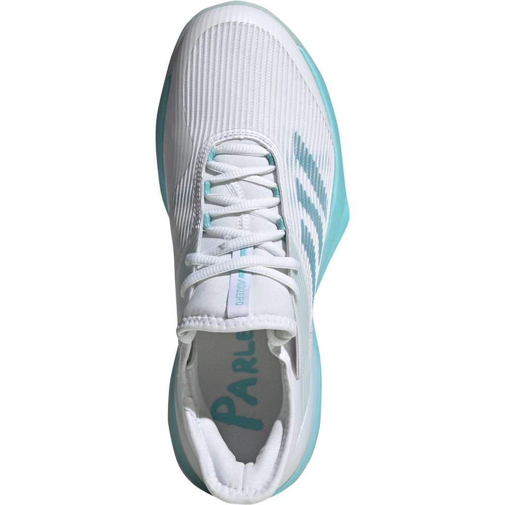 adidas Adizero Ubersonic 3 x Parley Tennisschuhe Damen blue spirit footwear white
