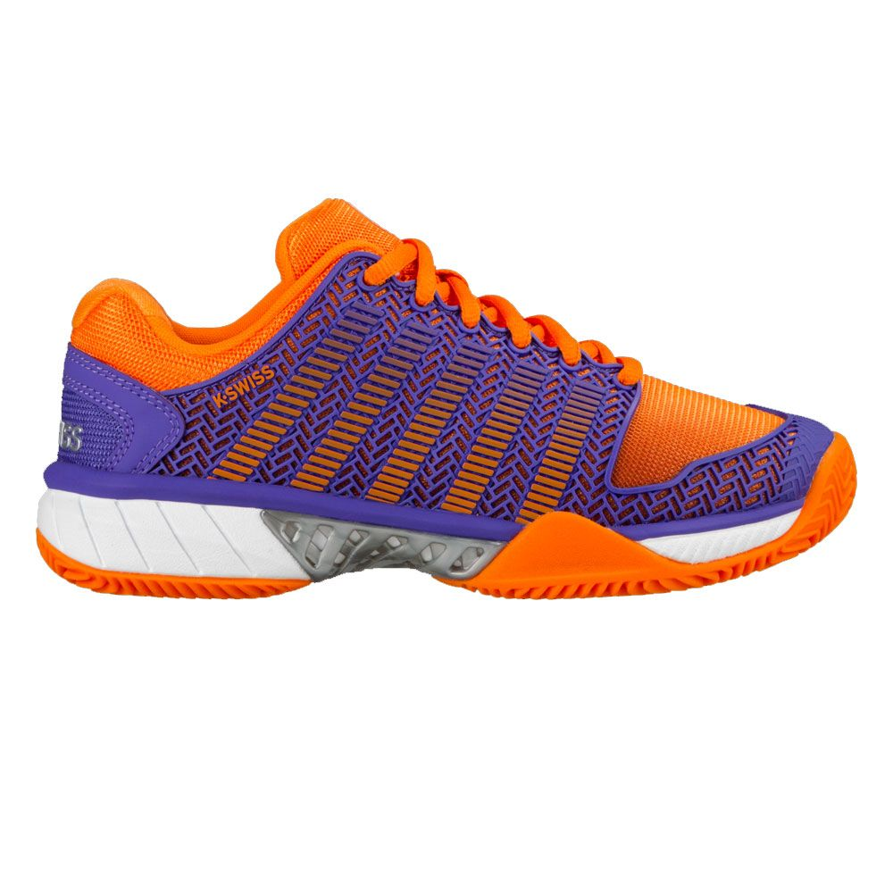 huge selection of bf4a5 86fce K-Swiss Hypercourt Express HB Tennis Shoes Women purple orange