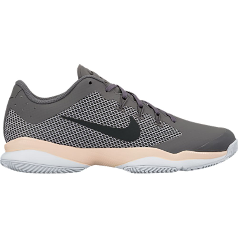 wholesale dealer c1192 17680 Nike Court Air Zoom Ultra Tennis Shoe Women dark grey orange quartz wolf  grey black