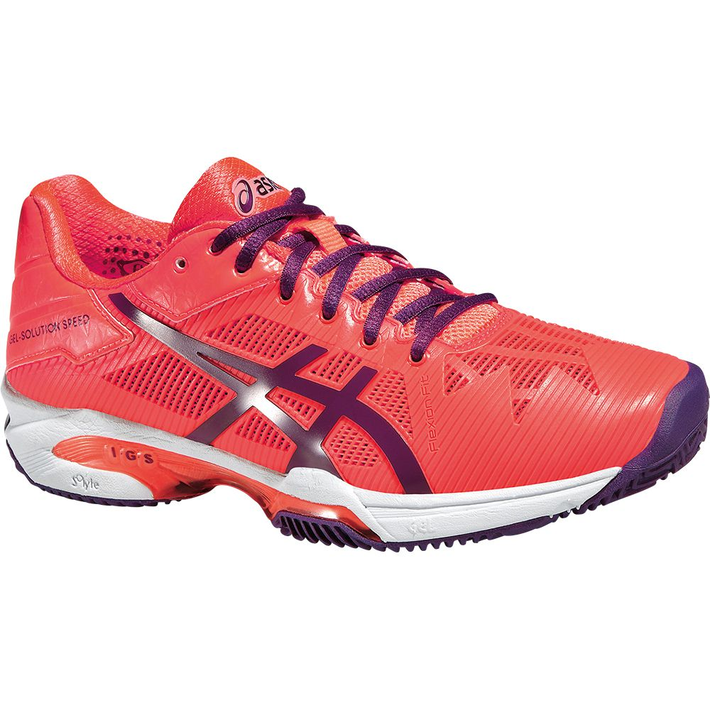 ASICS - Gel-Solution Speed 3 Clay Tenis Shoe Women flash ...