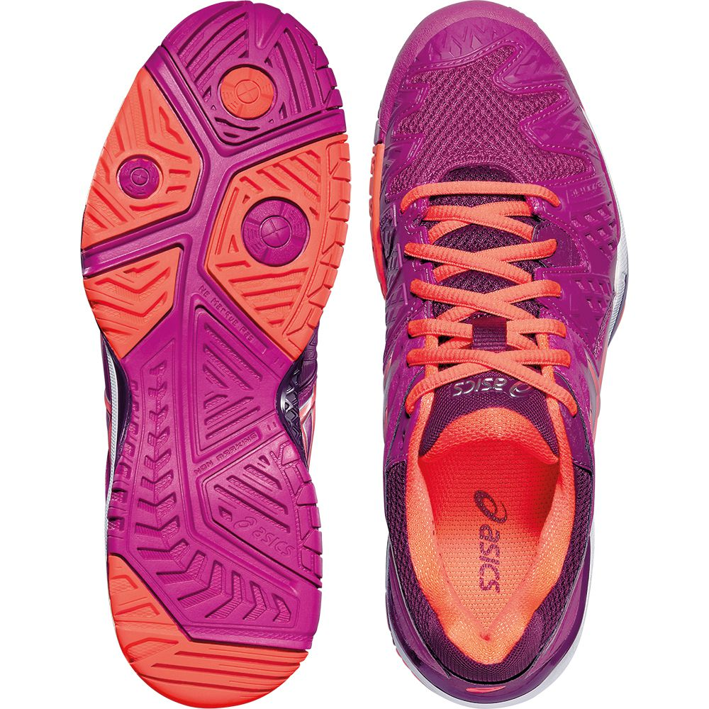 ASICS Gel Resolution 6 Clay Tenis Shoe Women berry at