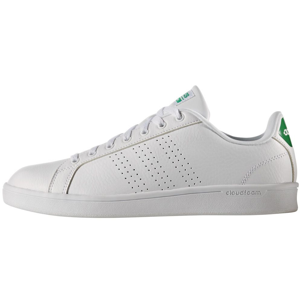 adidas cloudfoam white and green
