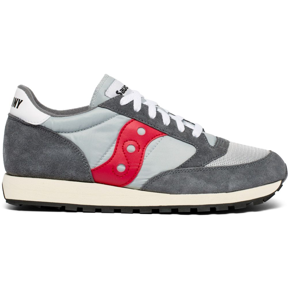3ff3394cad5b Saucony - Jazz Original Vintage Sneaker Men grey red at Sport Bittl Shop