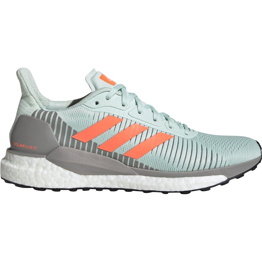 adidas - SolarGlide ST 19 Running Shoes Women dash green signal coral dove  grey