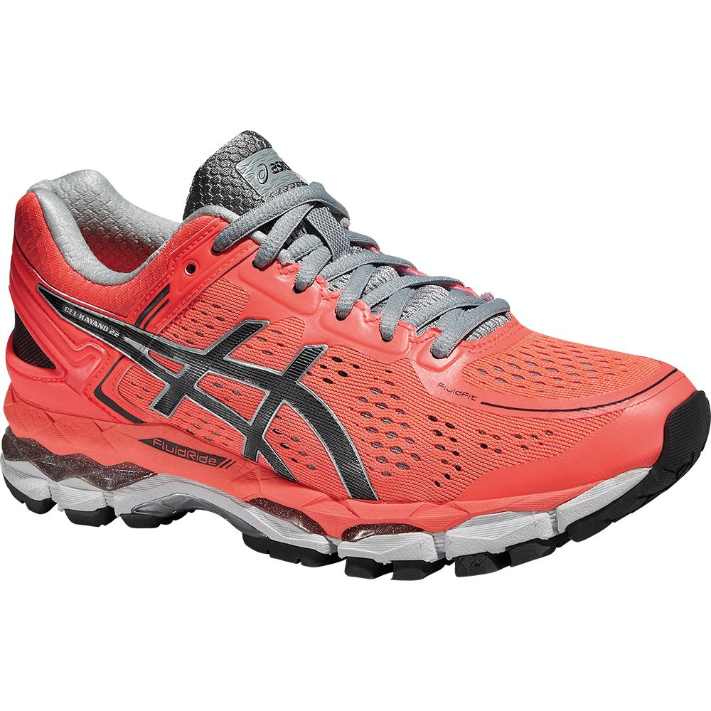 ASICS - Gel-Kayano 22 Running Shoe Women flash coral at ...