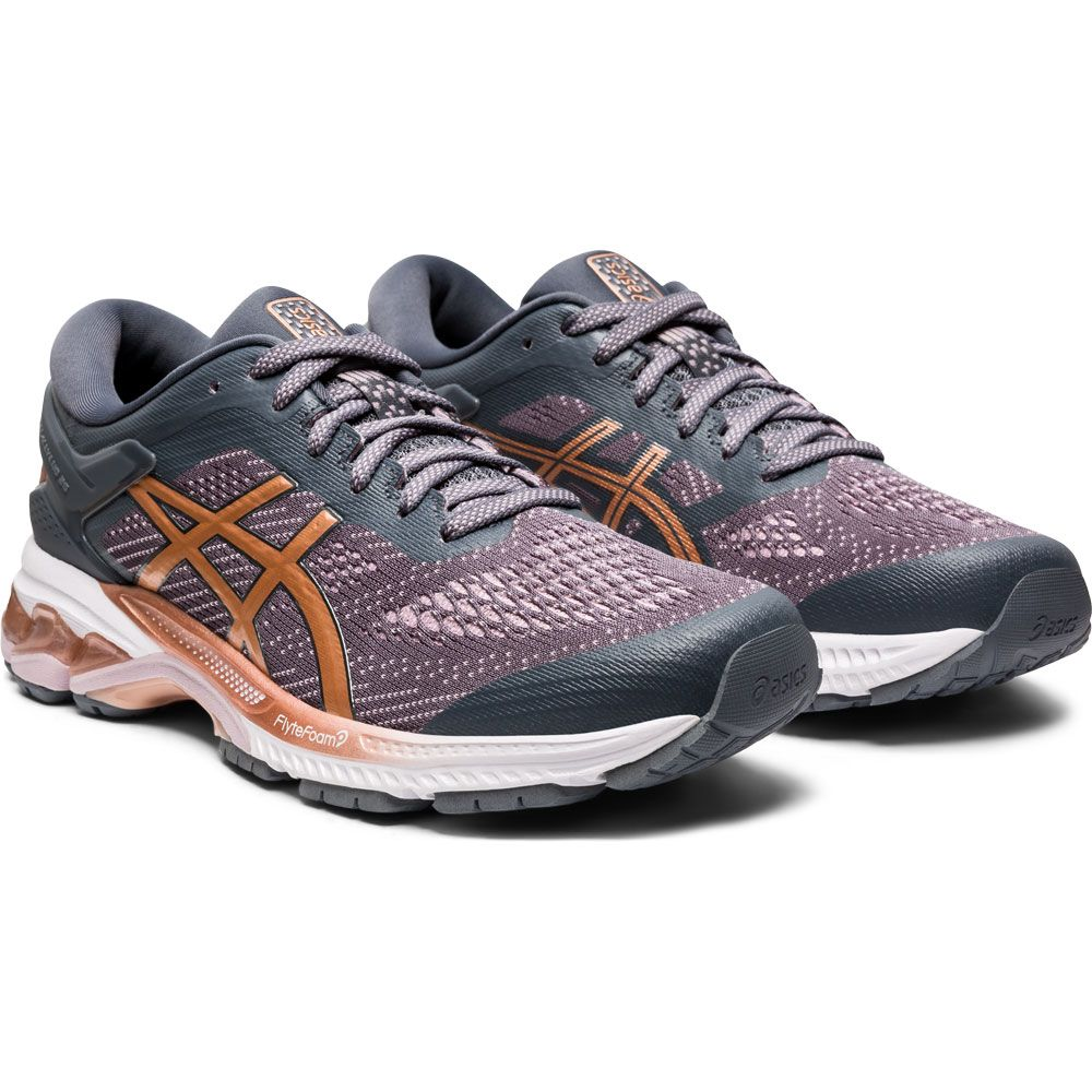 ASICS - Gel-Kayano 26 Running Shoes Women metropolis rose ...