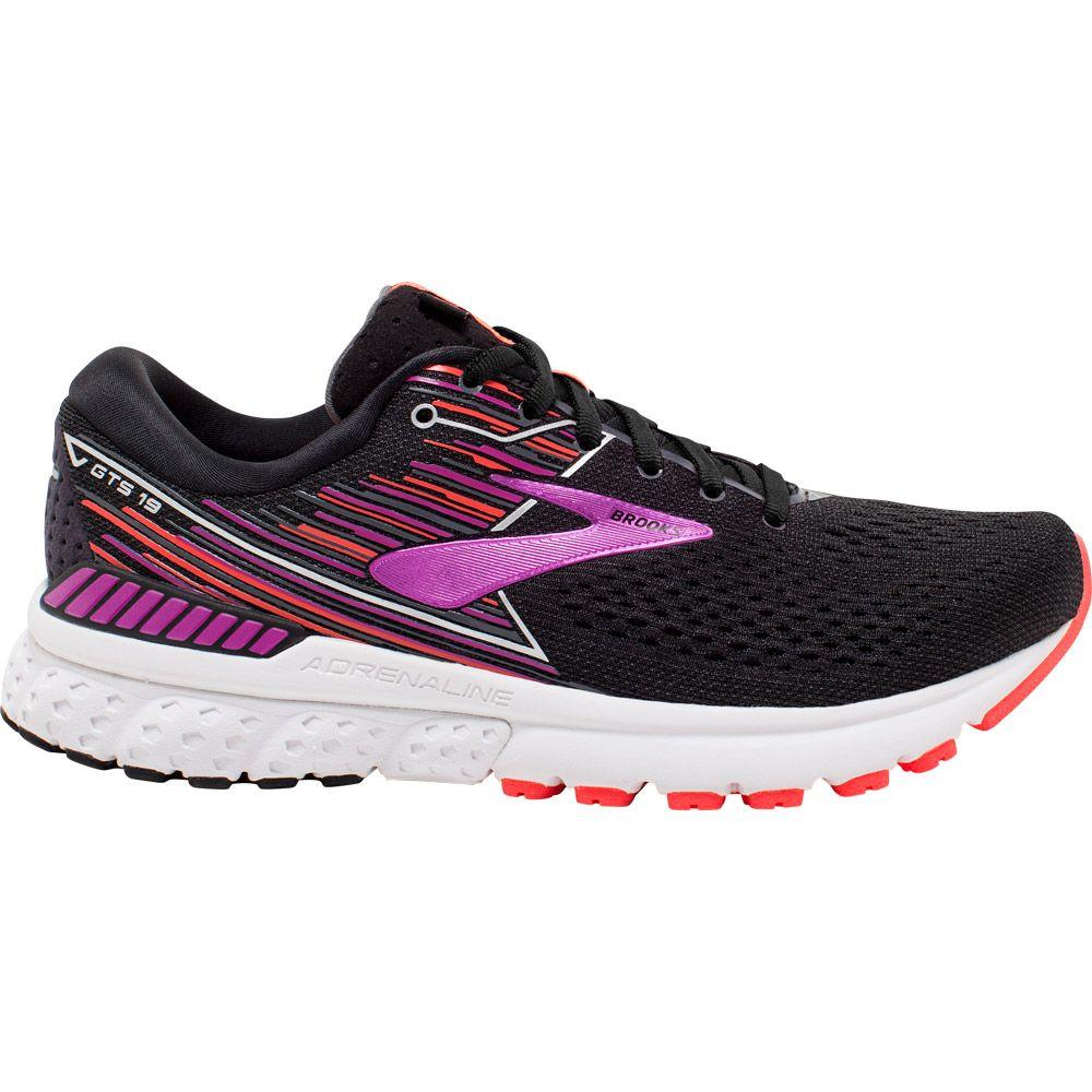 Brooks Adrenaline GTS 19 Laufschuhe Damen black purple coral