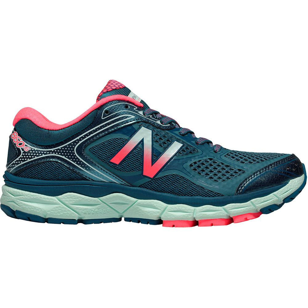 New Balance - 860 V6 Women Running Shoe blue pink at Sport ...
