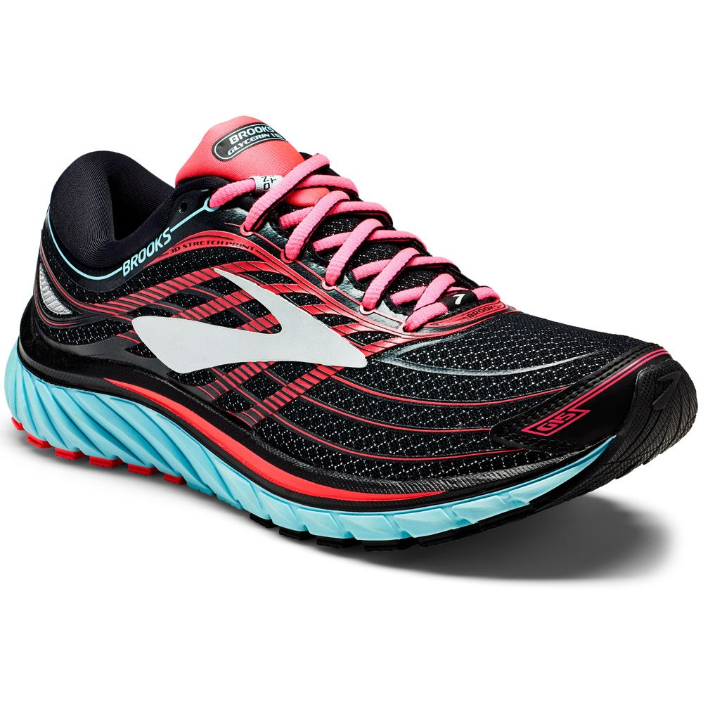 a077214479700 Brooks - Glycerin 15 W running shoe black island blue diva pink at ...