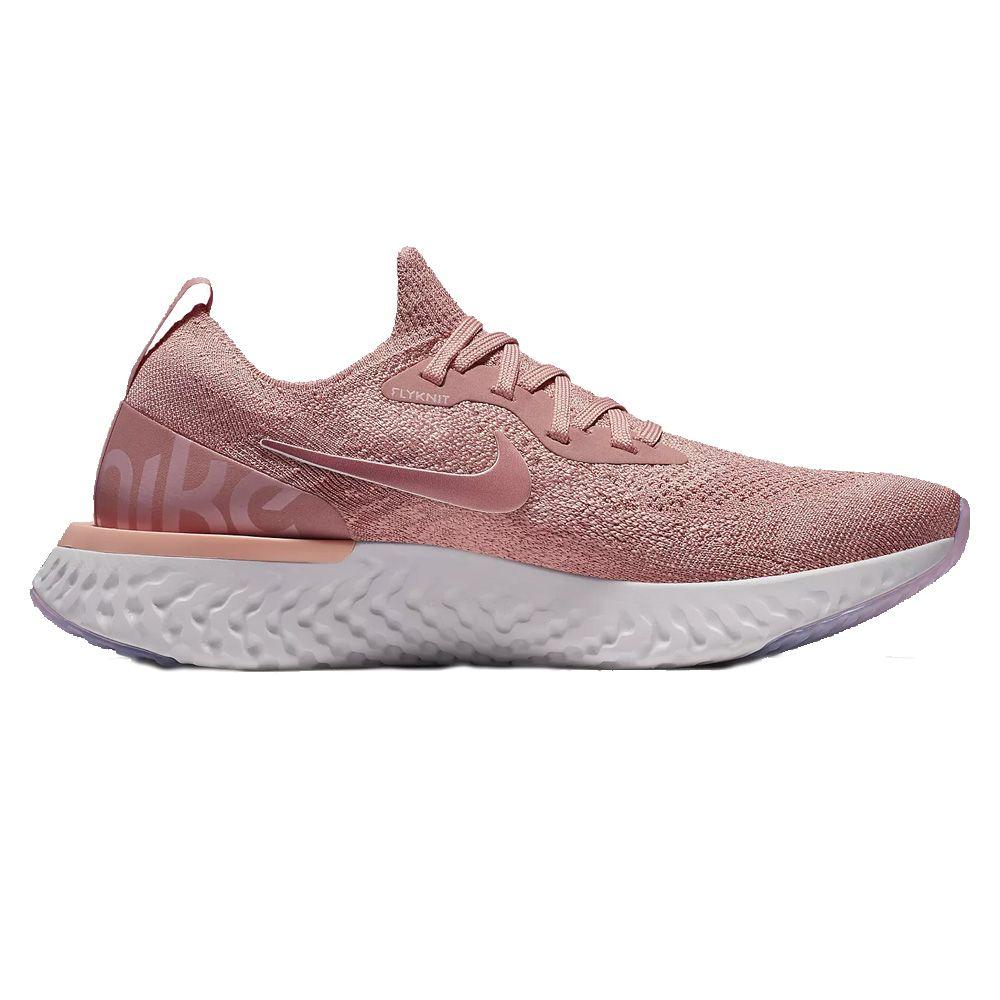 d590e9b3b9b Nike - Epic React Flyknit running shoes women barely rose at Sport ...