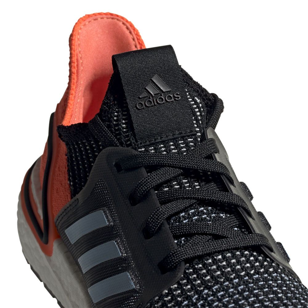 adidas Ultraboost 19 Running Shoes Women core black glow blue hi res coral