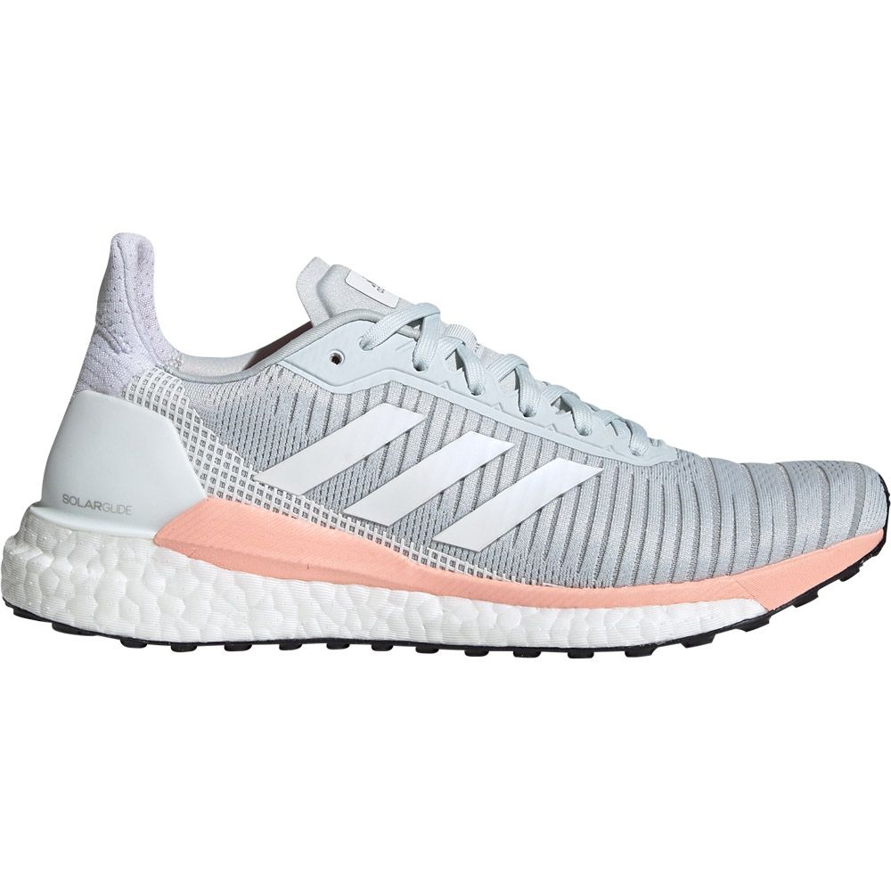 Solar Glide 19 Running Shoes Women blue tint footwear white glow pink
