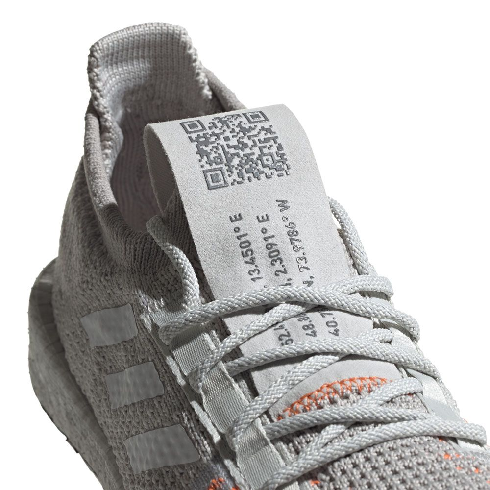 adidas - PulseBoost HD Running Shoes Women grey one footwear white hi-res  coral