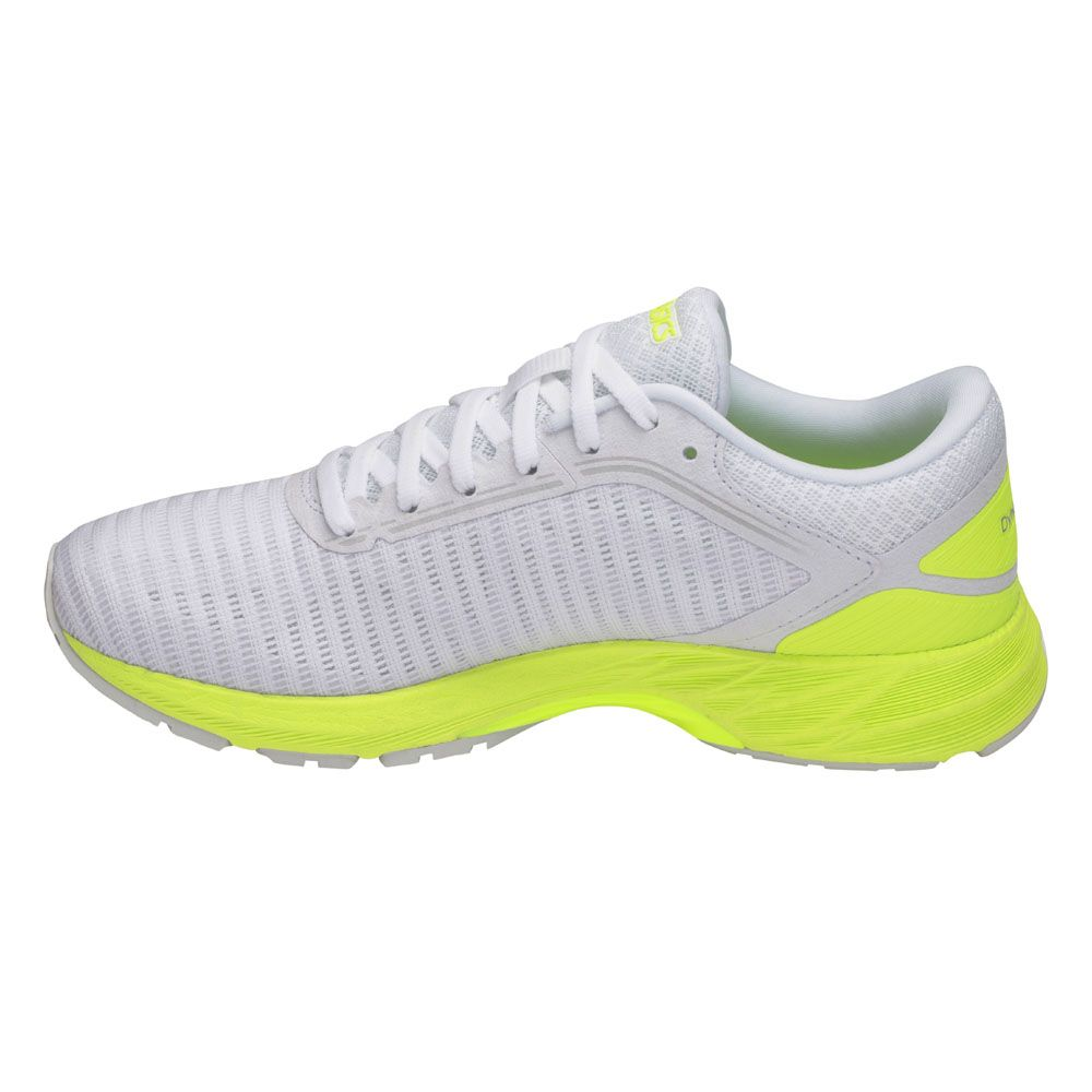 ASICS - Dynaflyte 2 running shoes women white safety yellow ...