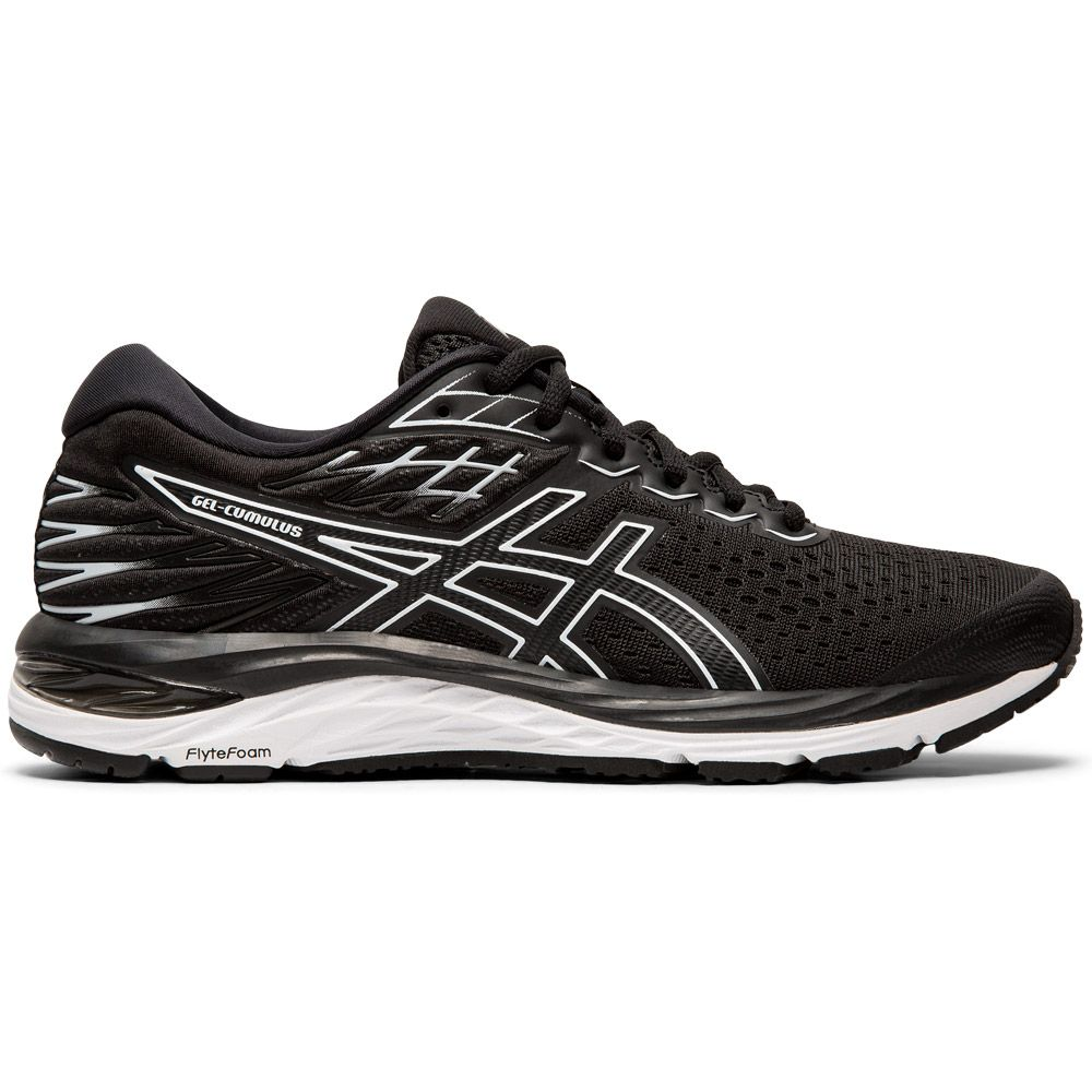 ASICS - Gel-Cumulus 21 Shine Running Shoes Women black white ...