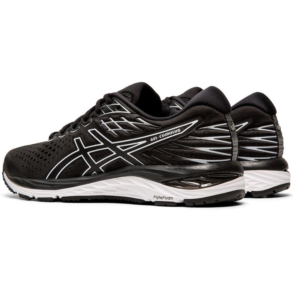 ASICS - Gel-Cumulus 21 Shine Running Shoes Women black white ...