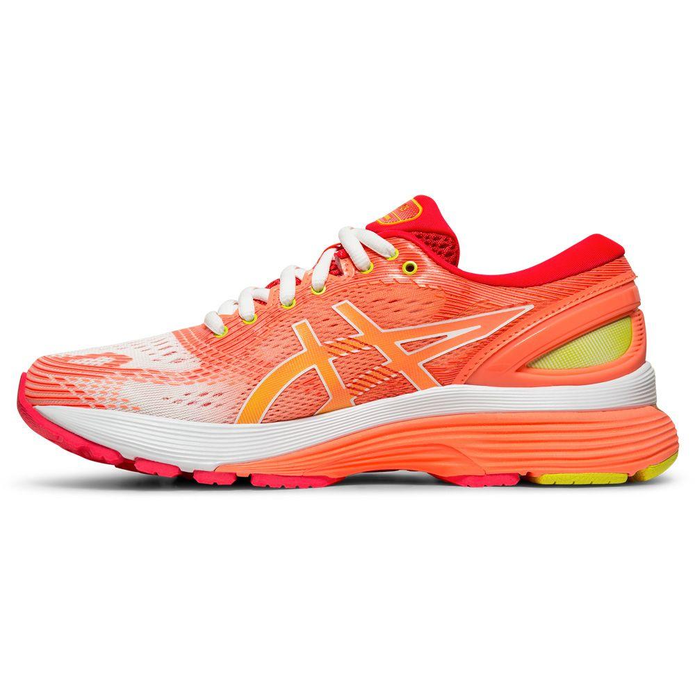 ASICS - Gel-Nimbus 21 Shine Running Shoes Women white sun coral