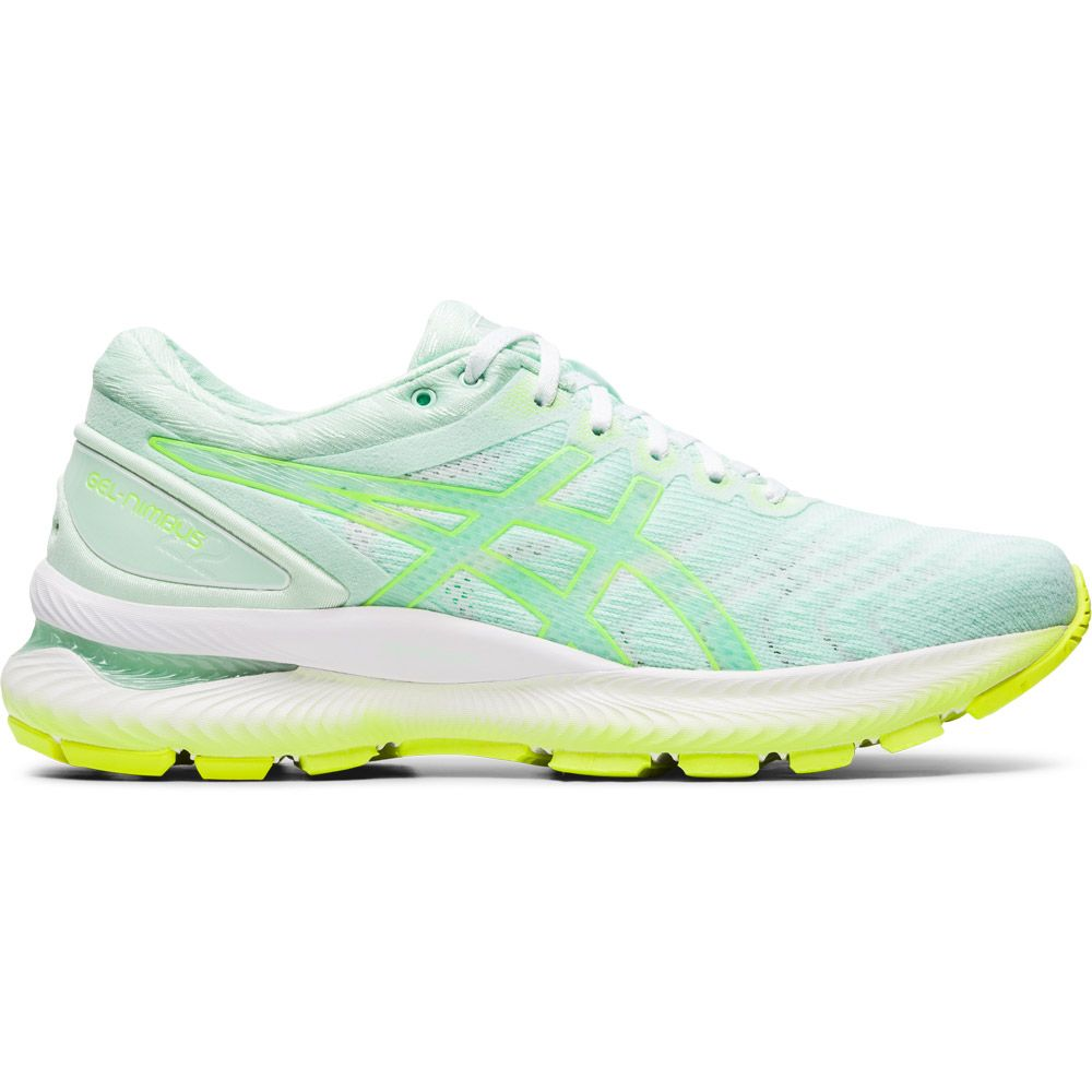 ASICS Gel Nimbus 22 Running Shoes Women mint tint safety yellow