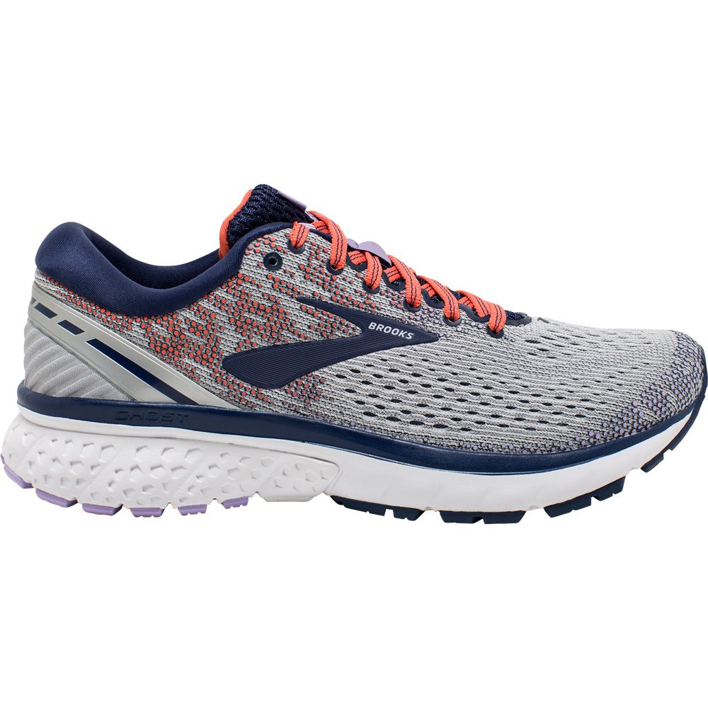 Running Shoes Women grey blue coral
