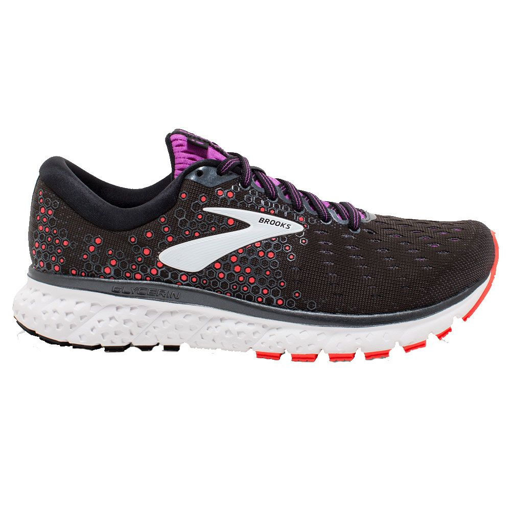 d216628556 Brooks - Glycerin 17 Running Shoes Women black fiery coral purple at ...