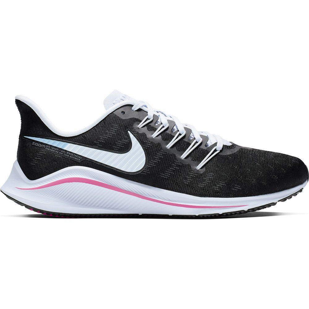 Nike Air Zoom Vomero 14 Running Shoes Women black football grey pink beam hyper pink