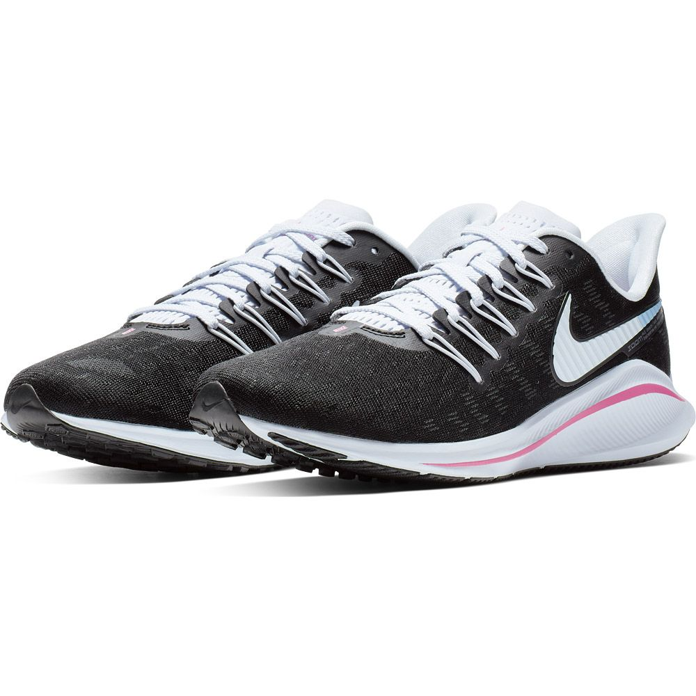 Nike Air Zoom Vomero 14 Laufschuhe Damen black football grey pink beam hyper pink