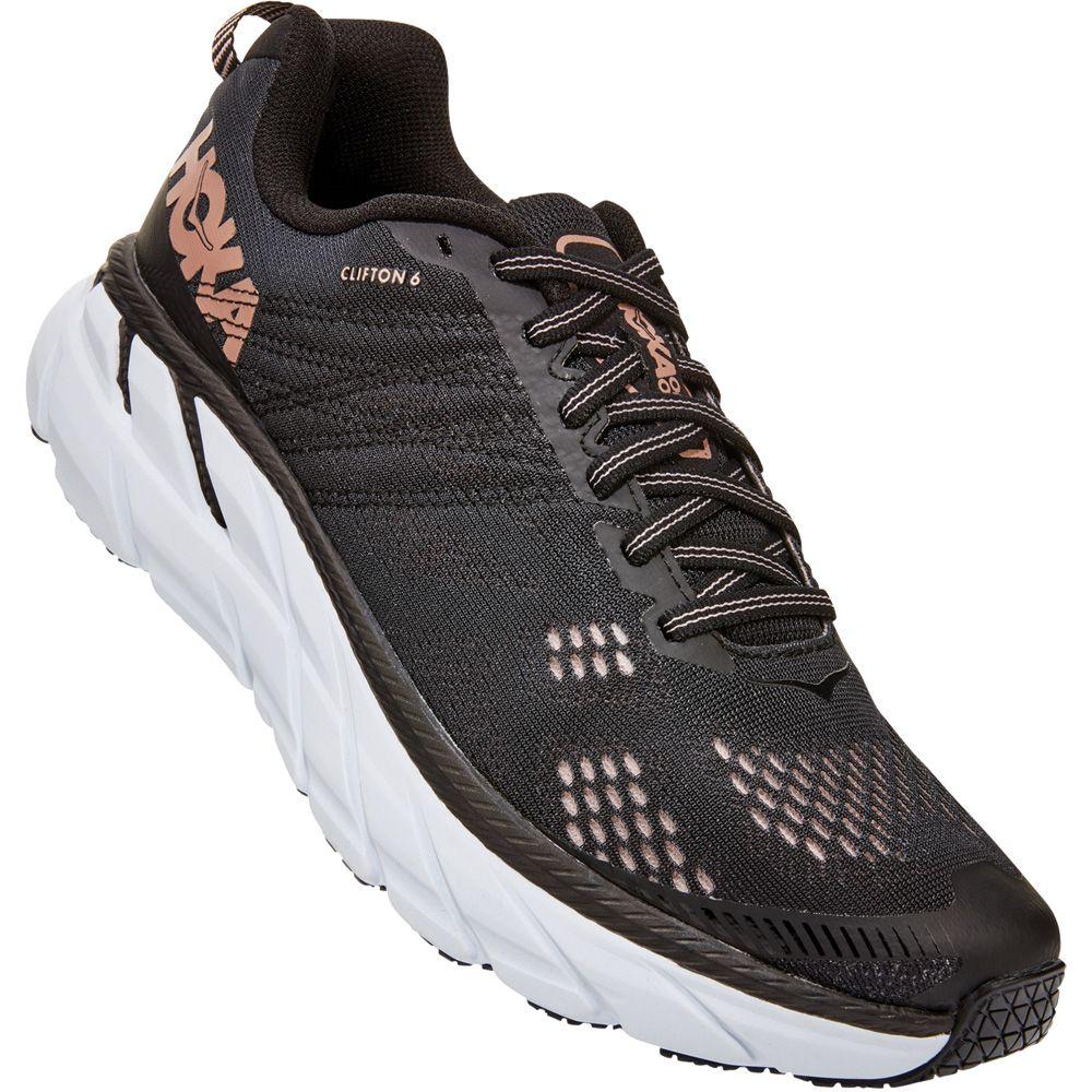 Hoka Clifton 6 Running Shoes Women Black Rose Gold At Sport Bittl Shop