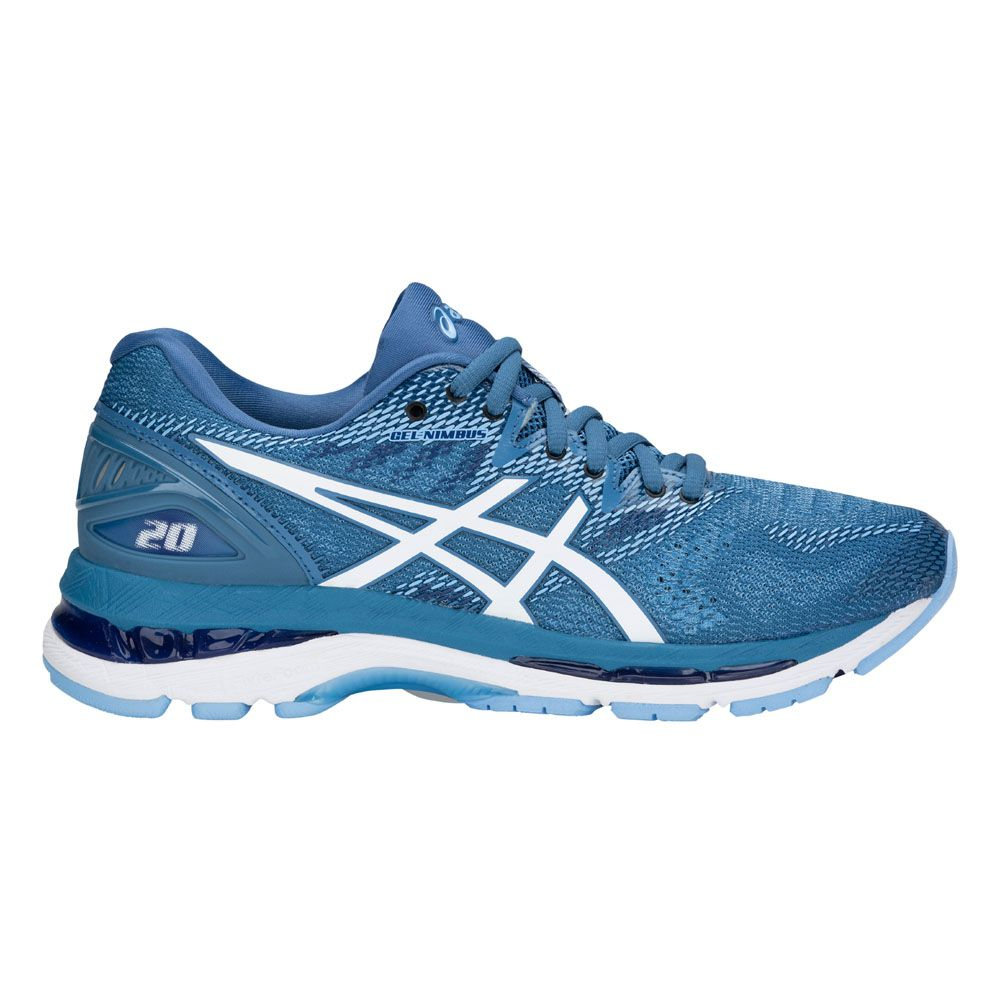 ASICS - Gel-Nimbus 20 Running Shoes Women azure white at ...