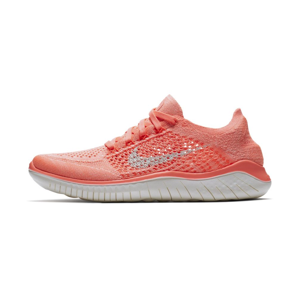 Nike Free RN Flyknit 2018 Running Shoes Women crimson pulse hyper crimson  sail 78f269a02