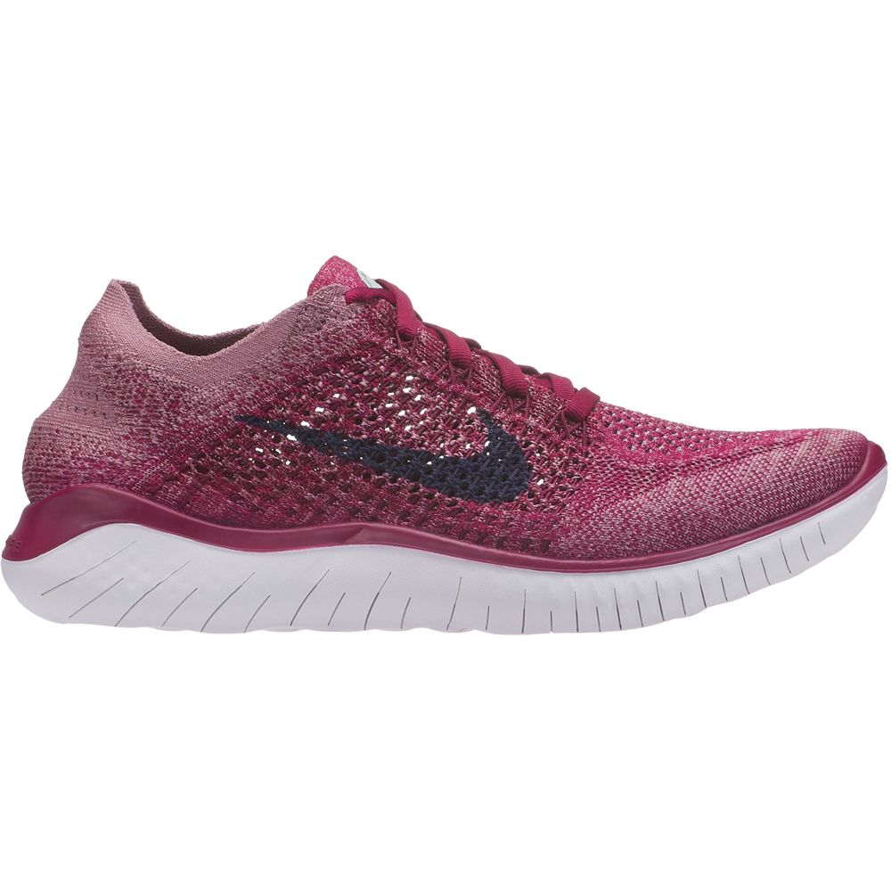 save off d242b dc2b4 Nike - Free RN Flyknit 2018 Running Shoes Women raspberry red blue void  white