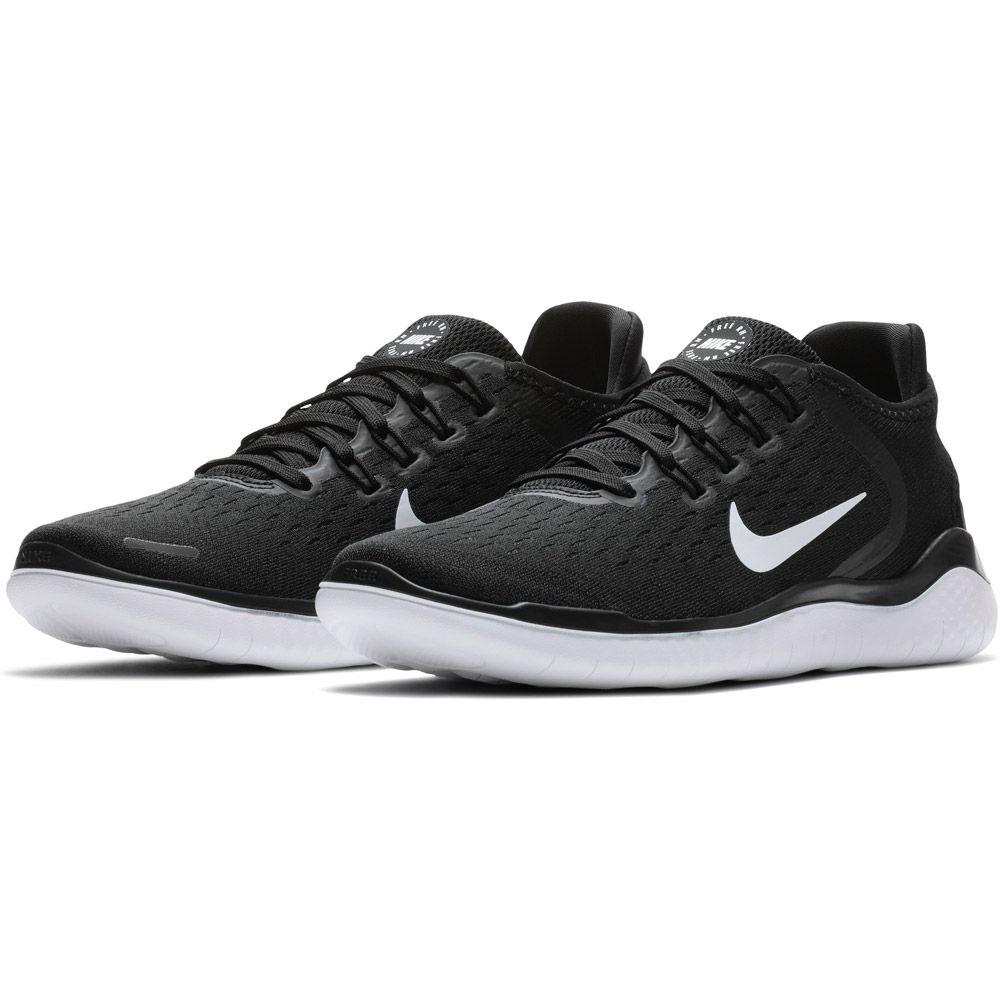 Nike Free RN 2018 Running Shoes Women black white at Sport