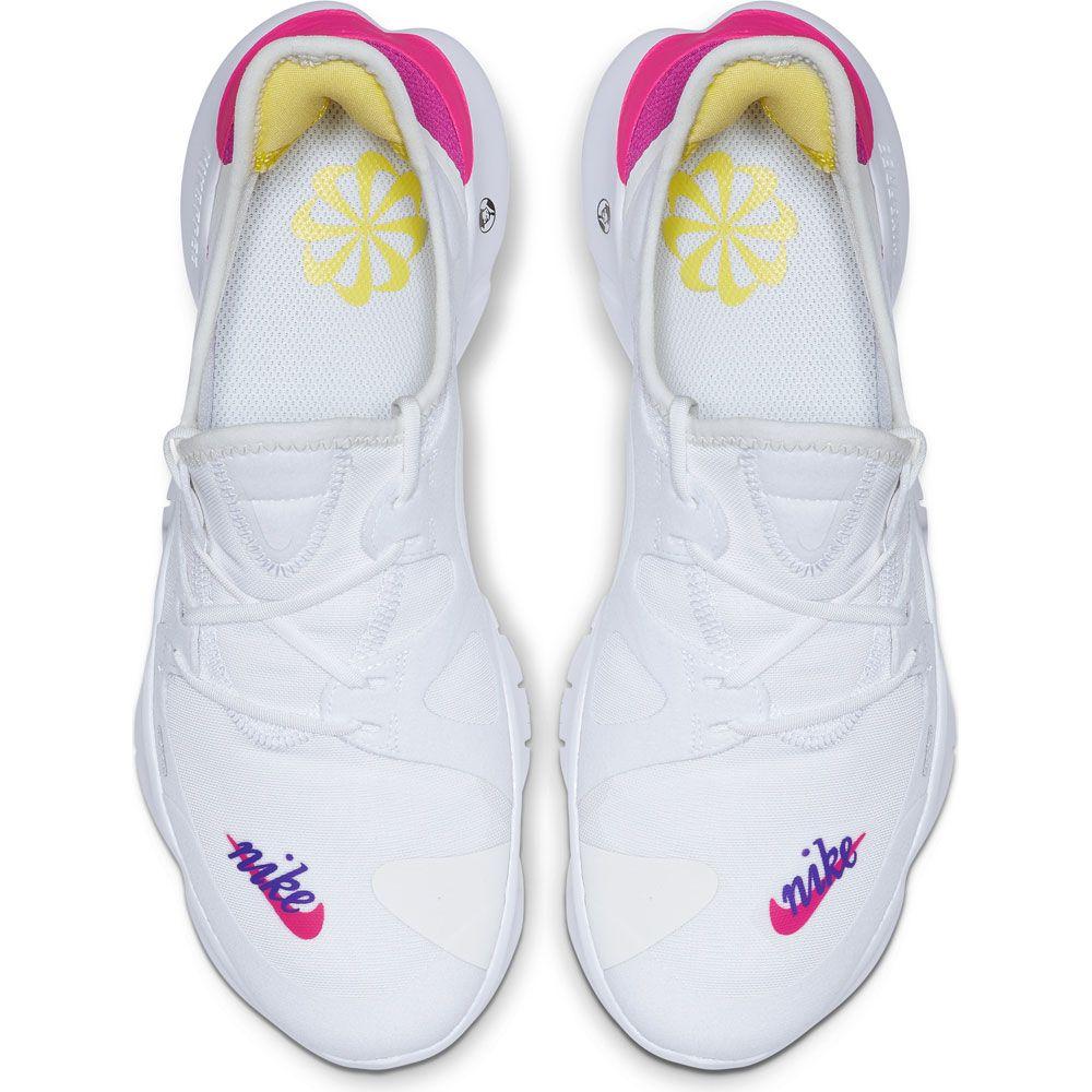Nike Free RN 5.0 Running Shoe Women white laser fuchsia at