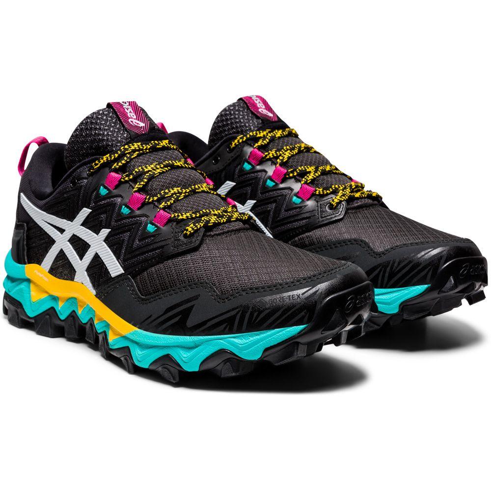 ASICS - Gel-FujiTrabuco 8 G-TX Trailrunning-Schuhe Damen schwarz weiß