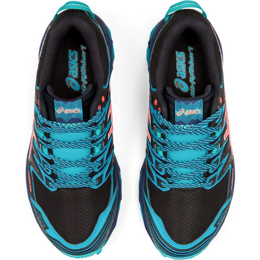 ASICS - GEL-FujiTrabuco 7 G-TX Trailrunning-Schuhe Damen black aquarium