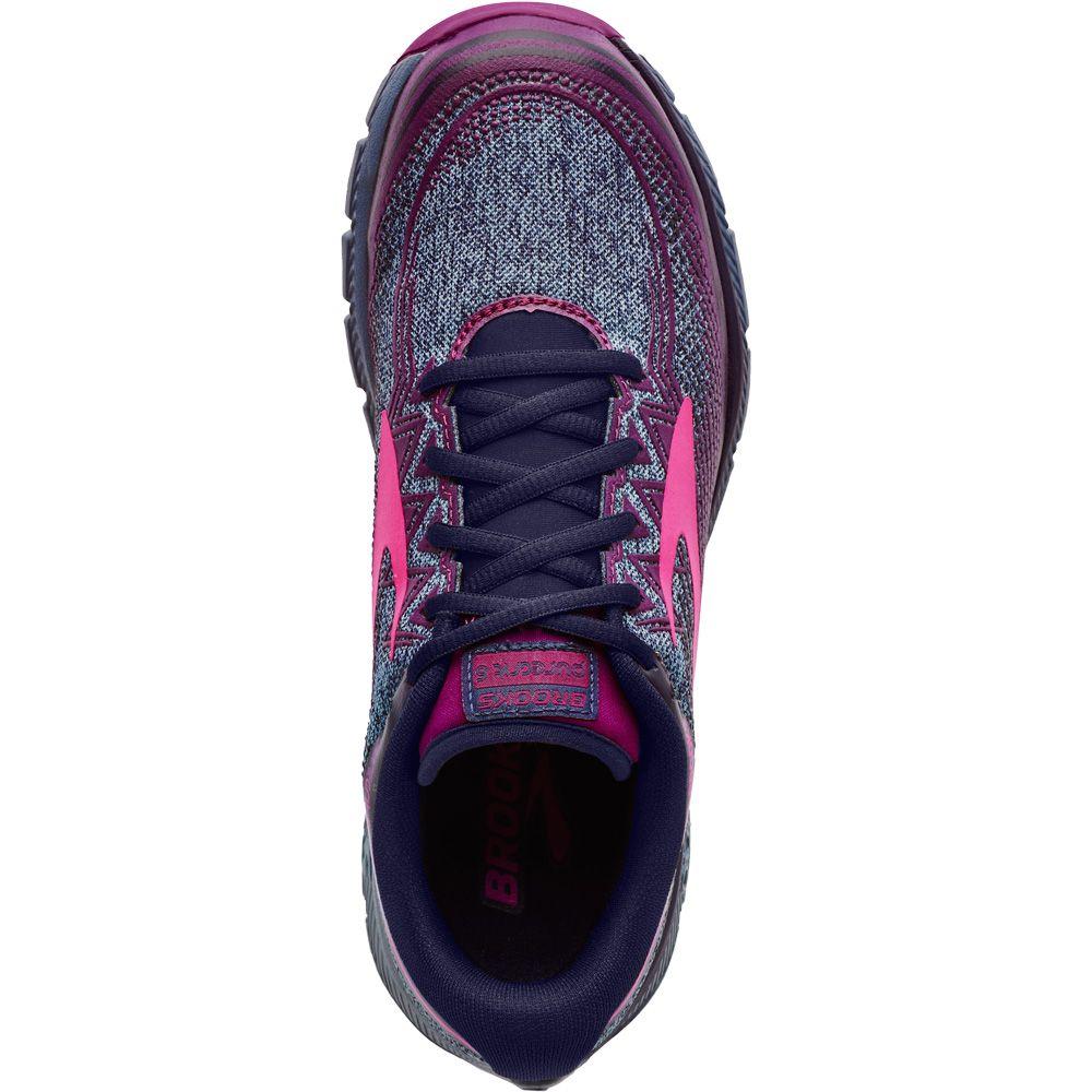 Brooks PureGrit 6 running shoes women navy pink at Sport