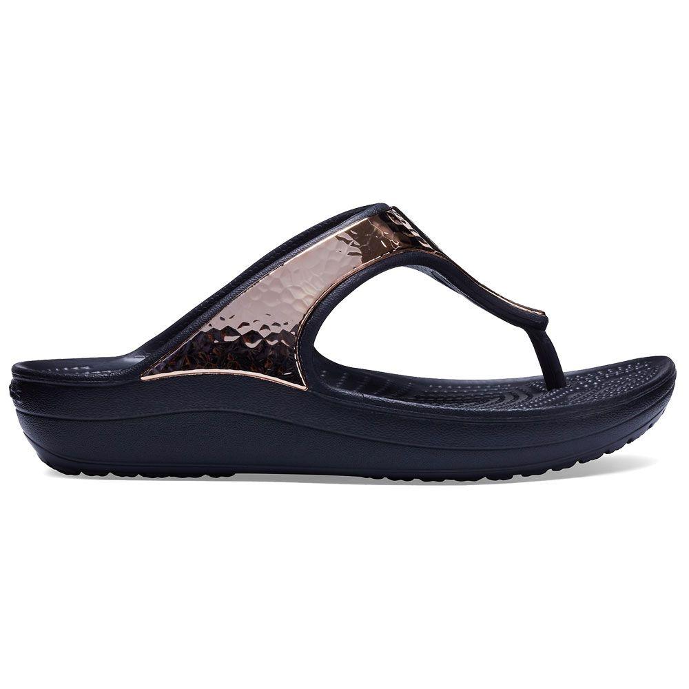 Crocs Womens Sloane Hammered Met W Flip-Flop