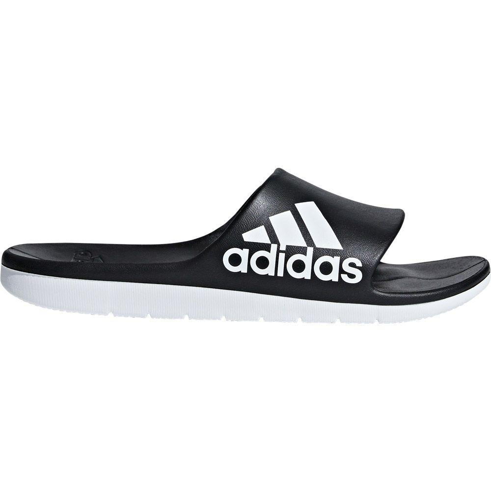 937b03f7c01ddf adidas - Aqualette Cloudfoam Slides Men core black footwear white at ...