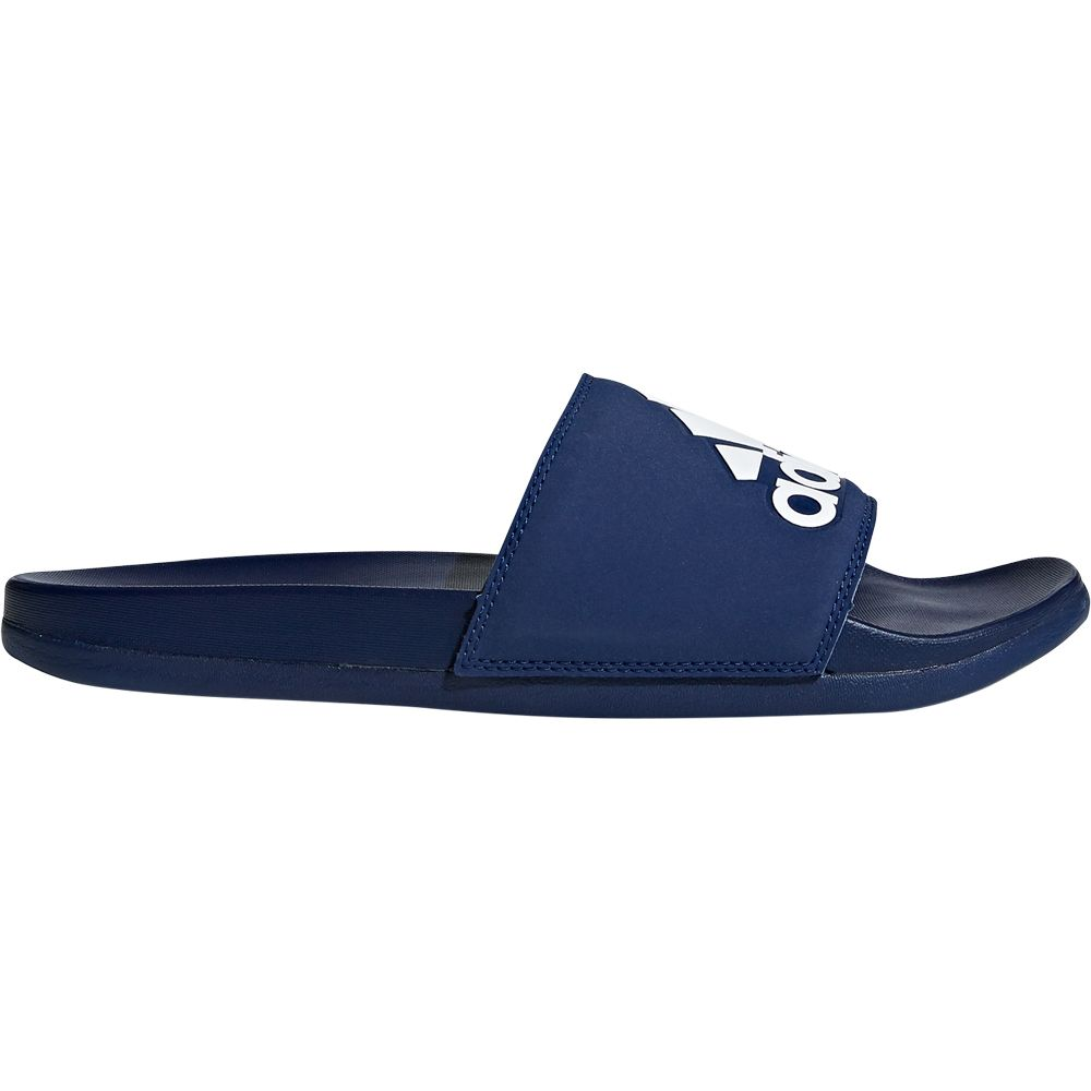 adidas Adilette Cloudfoam Plus Logo Slipper Herren dark blue footwear white